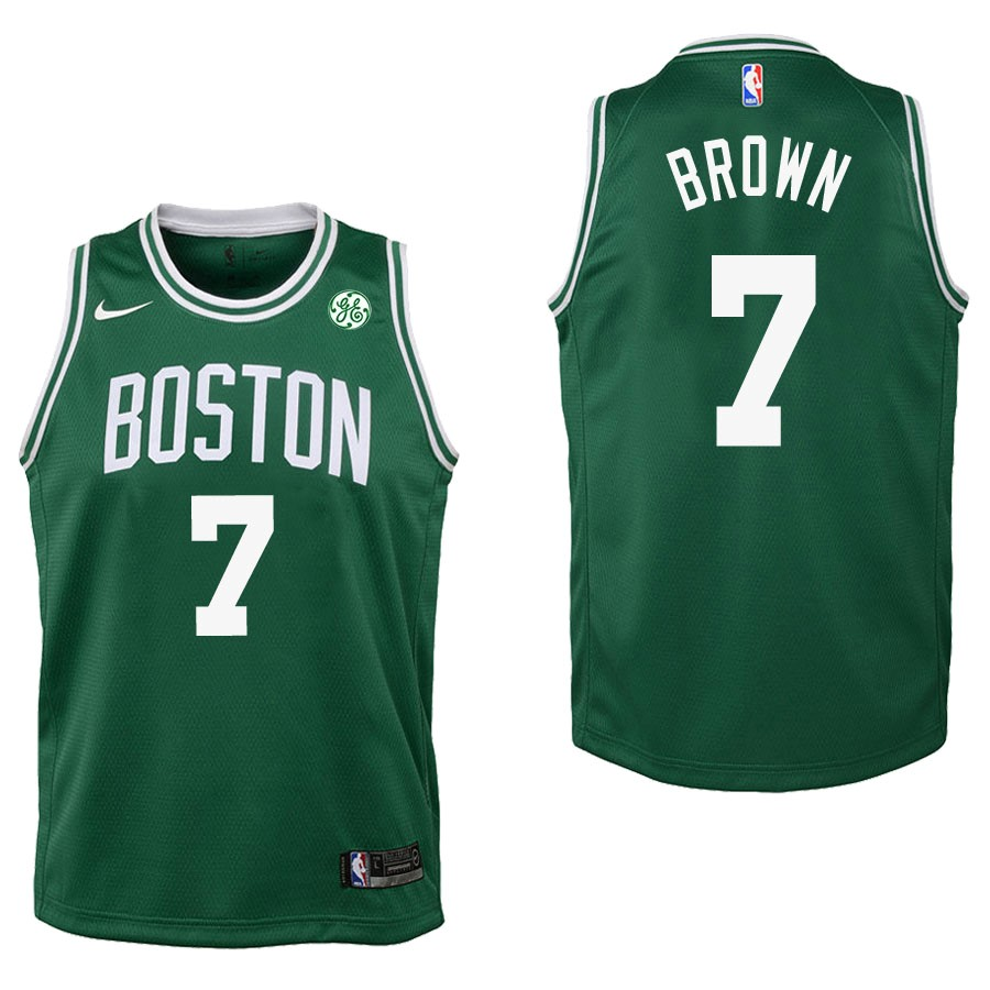 De Alta Calidad Camisetas NBA Niño Boston Celtics 7 Jaylen Brown Verde 2017/18