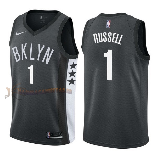 De Alta Calidad Camisetas NBA Nike Brooklyn Nets 1 D'Angelo Russell Negro Statement