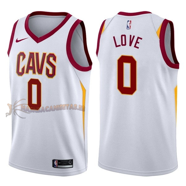 De Alta Calidad Camisetas NBA Nike Cleveland Cavaliers 0 Kevin Love Blanco Association