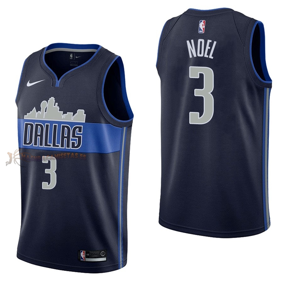De Alta Calidad Camisetas NBA Nike Dallas Mavericks 3 Nerlens Noel Negro Statement