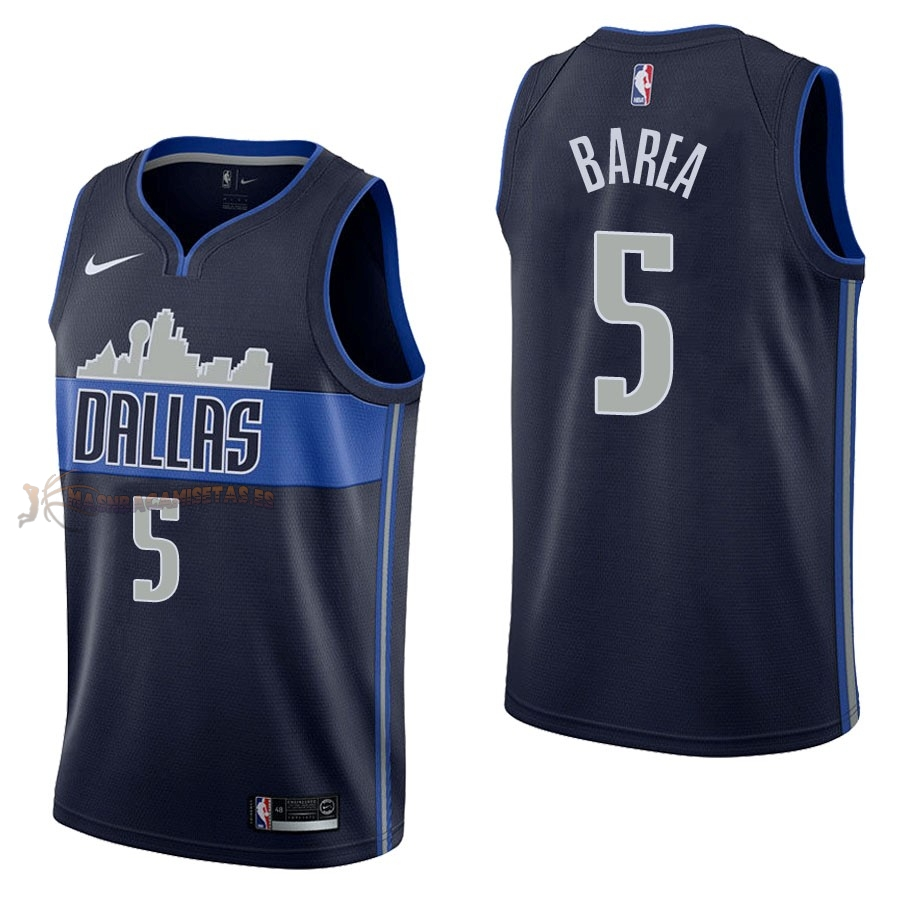 De Alta Calidad Camisetas NBA Nike Dallas Mavericks 5 J.J. Barea Negro Statement