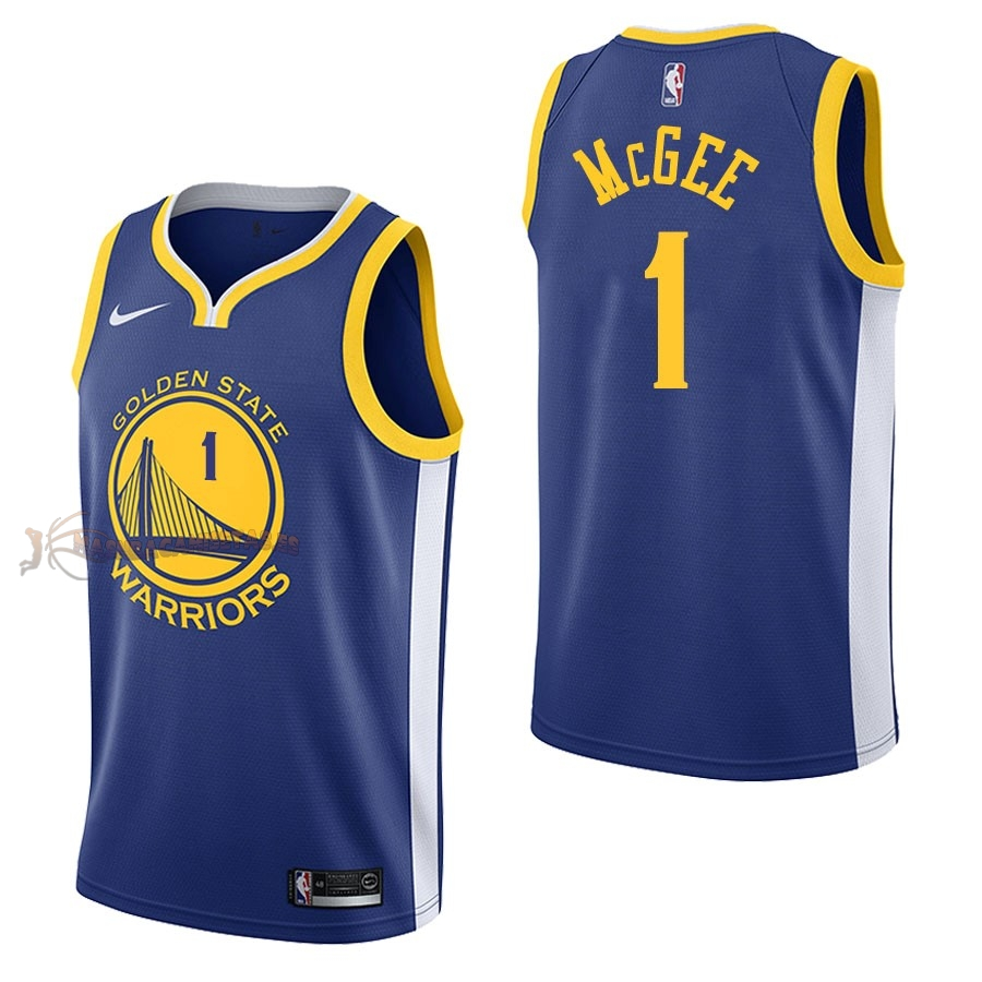 De Alta Calidad Camisetas NBA Nike Golden State Warriors 1 JaVale McGee Azul Icon