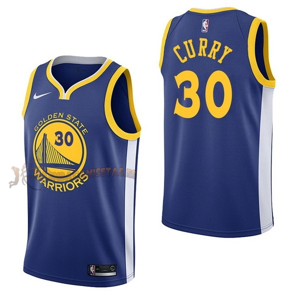 De Alta Calidad Camisetas NBA Nike Golden State Warriors 30 Stephen Curry Azul Icon