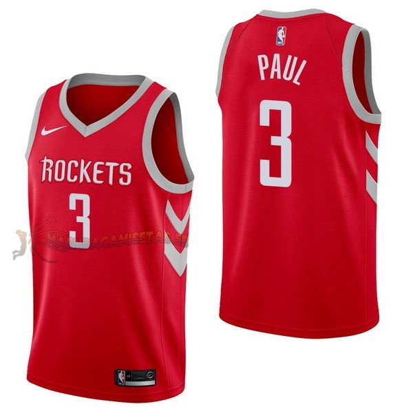 De Alta Calidad Camisetas NBA Nike Houston Rockets 3 Chris Paul Rojo Icon