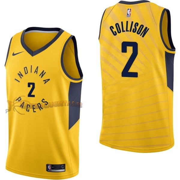 De Alta Calidad Camisetas NBA Nike Indiana Pacers 2 Darren Collison Amarillo Statement