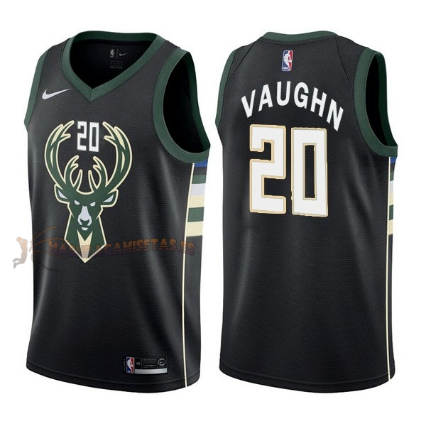 De Alta Calidad Camisetas NBA Nike Milwaukee Bucks 20 Rashad Vaughn Negro Statement