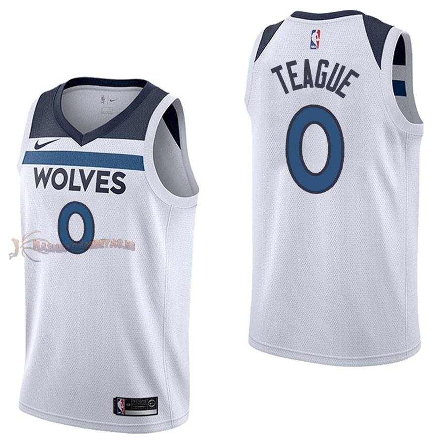 De Alta Calidad Camisetas NBA Nike Minnesota Timberwolves 0 Jeff Teague Blanco Association
