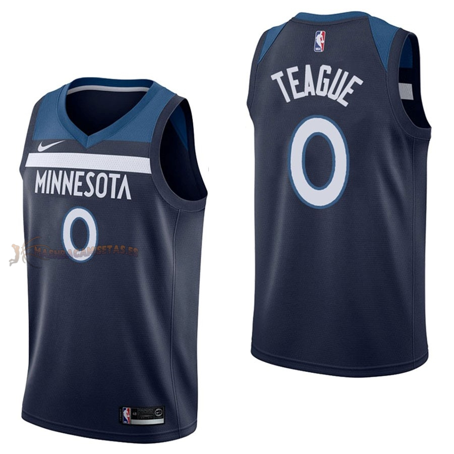 De Alta Calidad Camisetas NBA Nike Minnesota Timberwolves 0 Jeff Teague Marino Icon