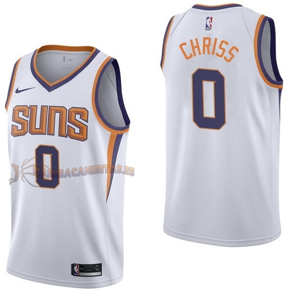 De Alta Calidad Camisetas NBA Nike Phoenix Suns 0 Marquese Chriss Blanco Association