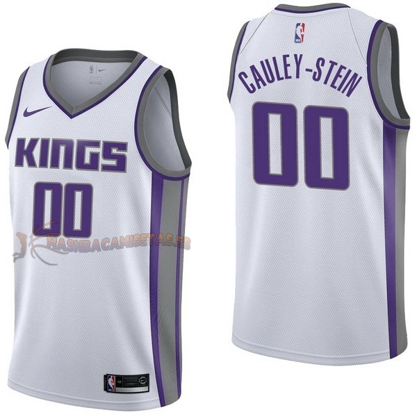 De Alta Calidad Camisetas NBA Nike Sacramento Kings 0 Willie Cauley Stein Blanco Association