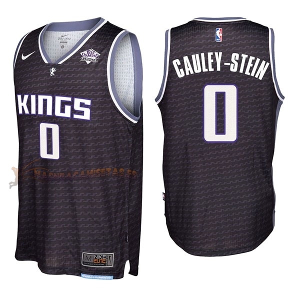 De Alta Calidad Camisetas NBA Nike Sacramento Kings 0 Willie Cauley Stein Negro