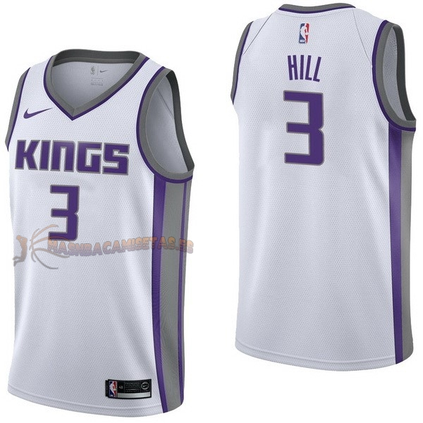 De Alta Calidad Camisetas NBA Nike Sacramento Kings 3 George Hill Blanco Association