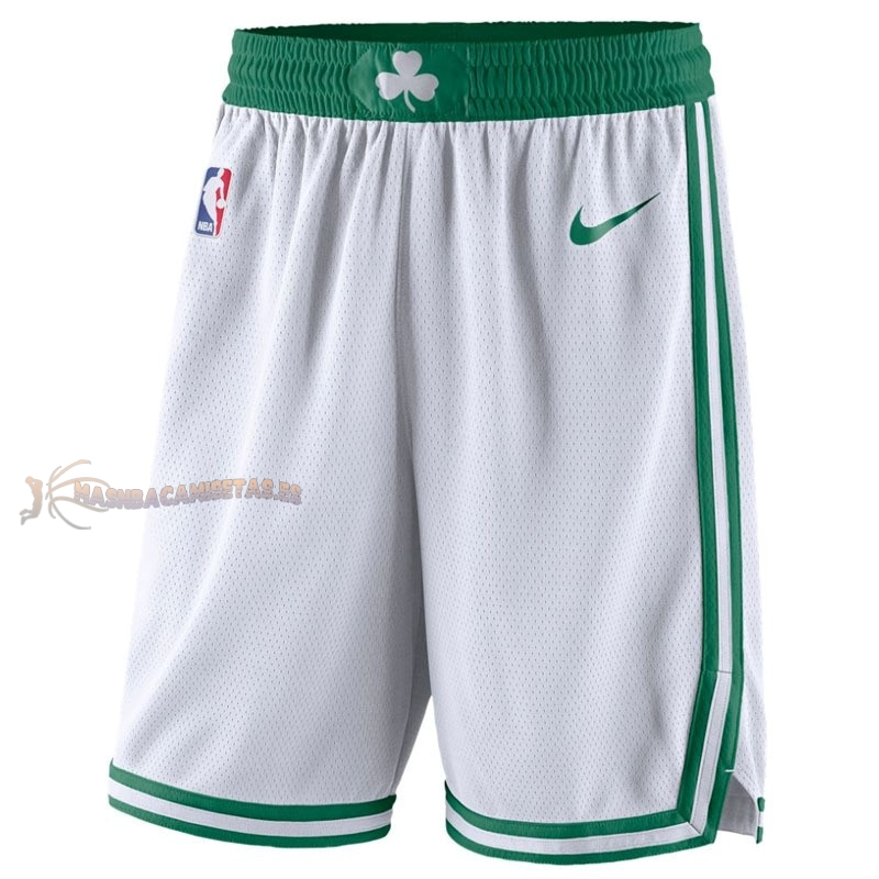 De Alta Calidad Pantalones Basket Boston Celtics Nike Blanco