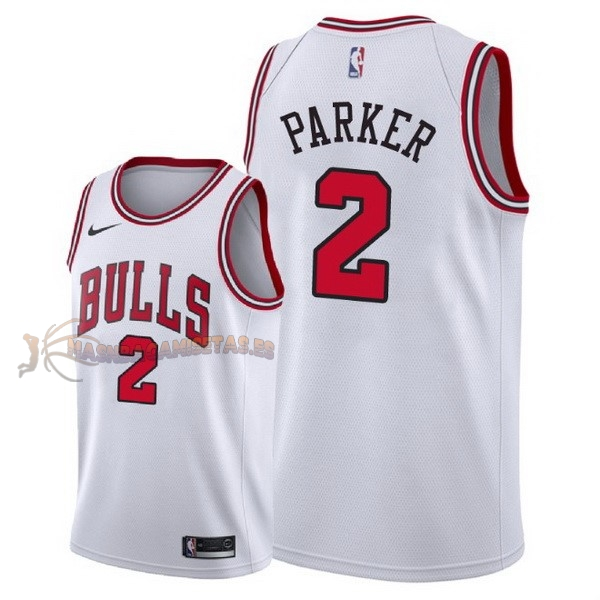 De Alta Calidad Camisetas NBA Nike Chicago Bulls 2 Jabari Parker Blanco Association 2018