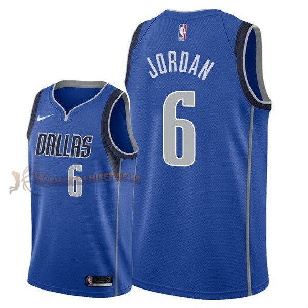 De Alta Calidad Camisetas NBA Nike Dallas Mavericks 6 DeAndre Jordan Azul Icon 2018