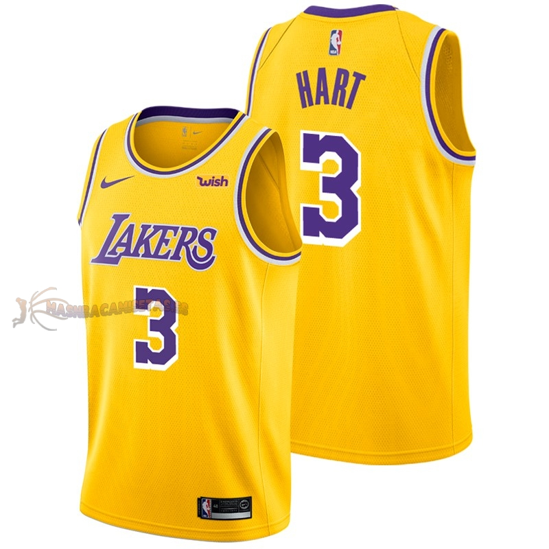 De Alta Calidad Camisetas NBA Nike Los Angeles Lakers 3 Josh Hart Amarillo 2018/19