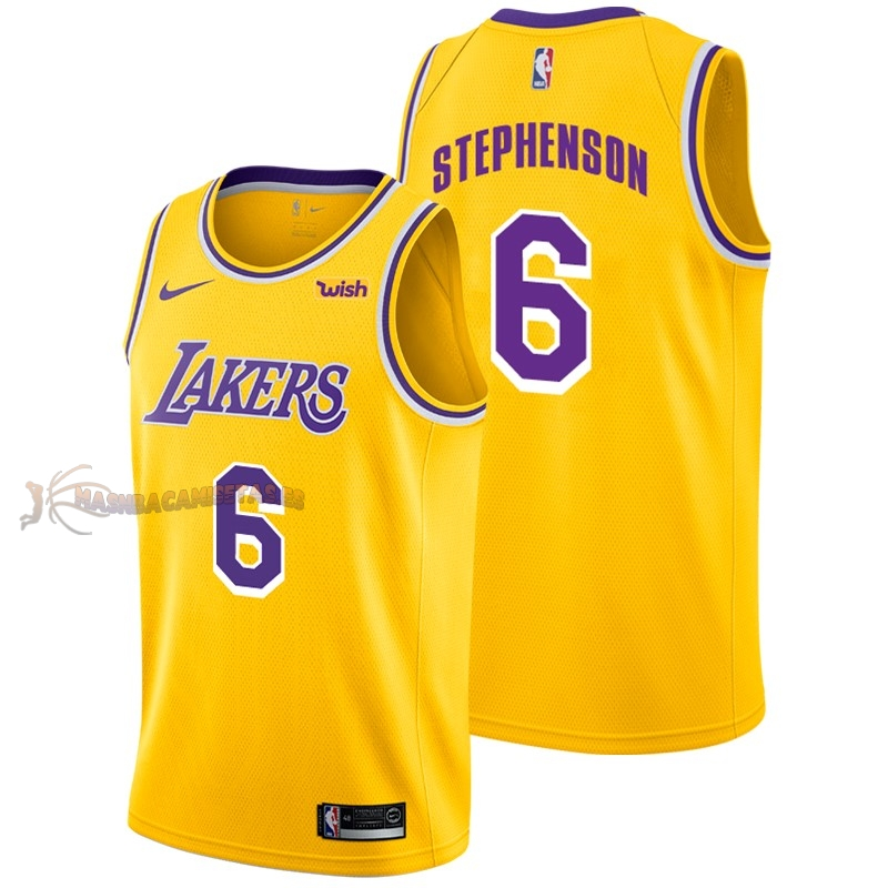 De Alta Calidad Camisetas NBA Nike Los Angeles Lakers 6 Lance Stephenson Amarillo 2018/19
