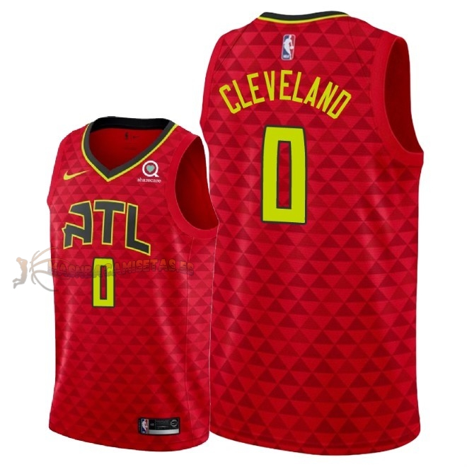 De Alta Calidad Camisetas NBA Atlanta Hawks 0 Antonius Cleveland Rojo Statement 2018