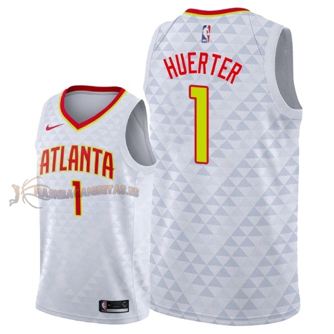 De Alta Calidad Camisetas NBA Atlanta Hawks 1 Justin Anderson Blanco Association 2018
