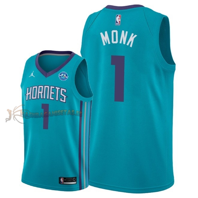 De Alta Calidad Camisetas NBA Charlotte Hornets 1 Malik Monk Verde Icon 30th 2018