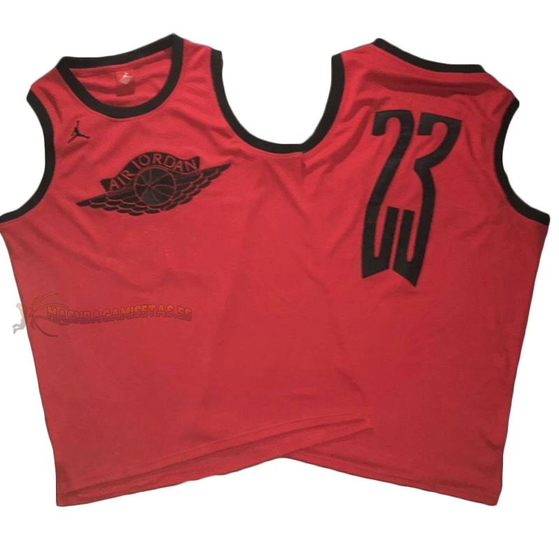 De Alta Calidad Camisetas NBA Chicago Bulls 23 Michael Jordan Flying Wing Logo Rojo