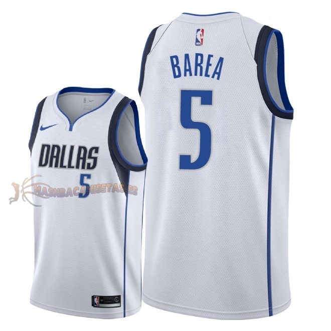De Alta Calidad Camisetas NBA Dallas Mavericks 5 J.J. Barea Blanco Association 2018