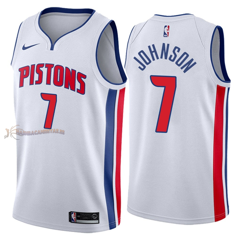 De Alta Calidad Camisetas NBA Detroit Pistons 7 Stanley Johnson Blanco Association 2018