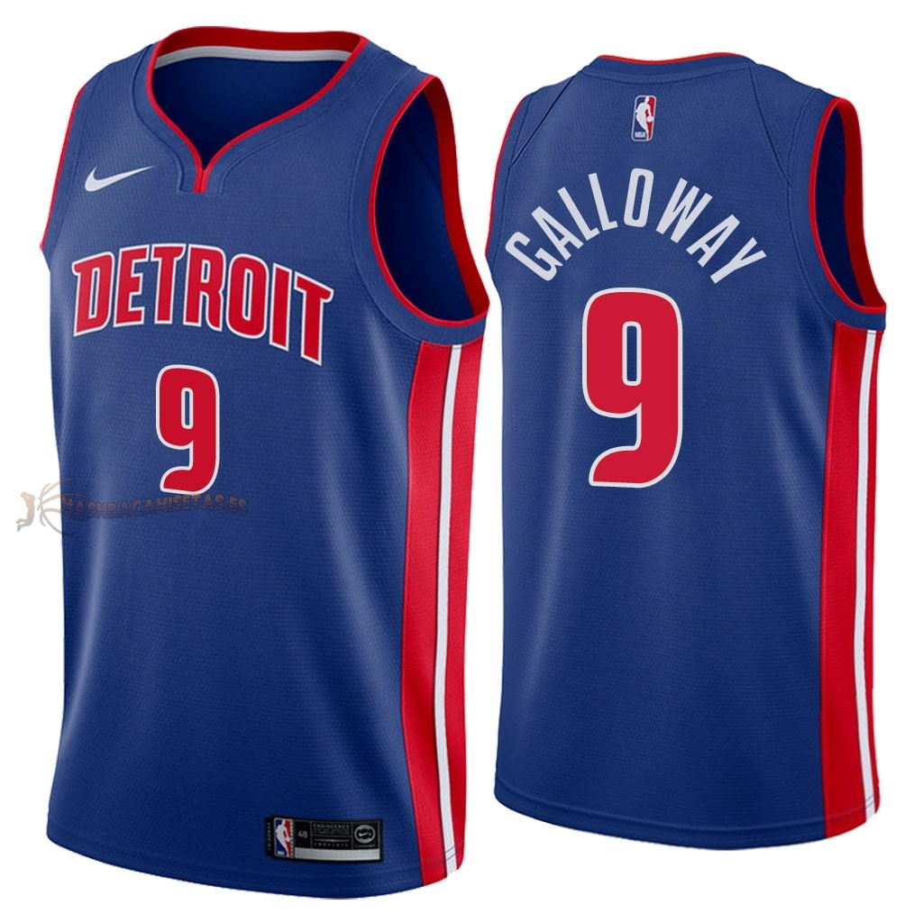De Alta Calidad Camisetas NBA Detroit Pistons 9 Langston Galloway Azul Icon 2018