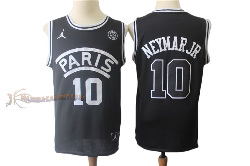 De Alta Calidad Camisetas NBA Jordan x Paris Saint-Germain 10 Neymar Jr Negro 2018
