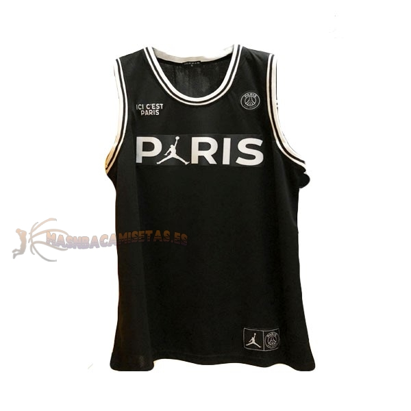 De Alta Calidad Camisetas NBA Jordan x Paris Saint-Germain 23 Jordan Negro 2018