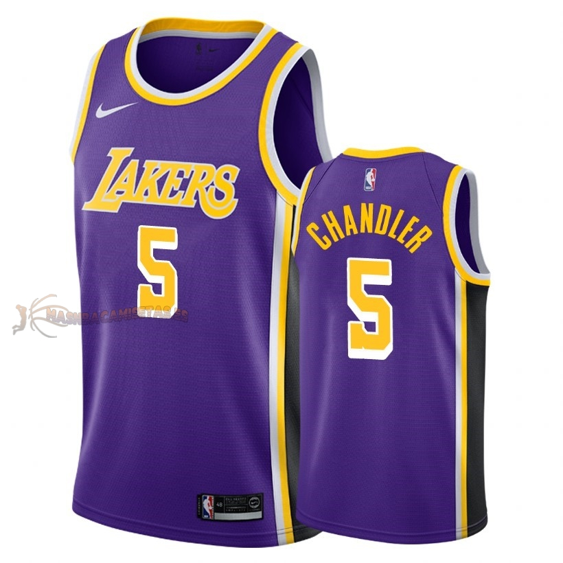 De Alta Calidad Camisetas NBA Los Angeles Lakers 5 Tyson Chandler Púrpura Statement 2018-19
