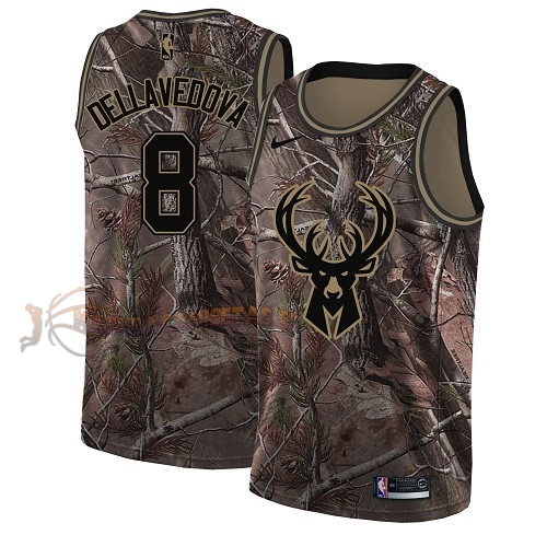 De Alta Calidad Camisetas NBA Milwaukee Bucks 8 Matthew Dellavedova Camo Swingman Realtree Collection 2018