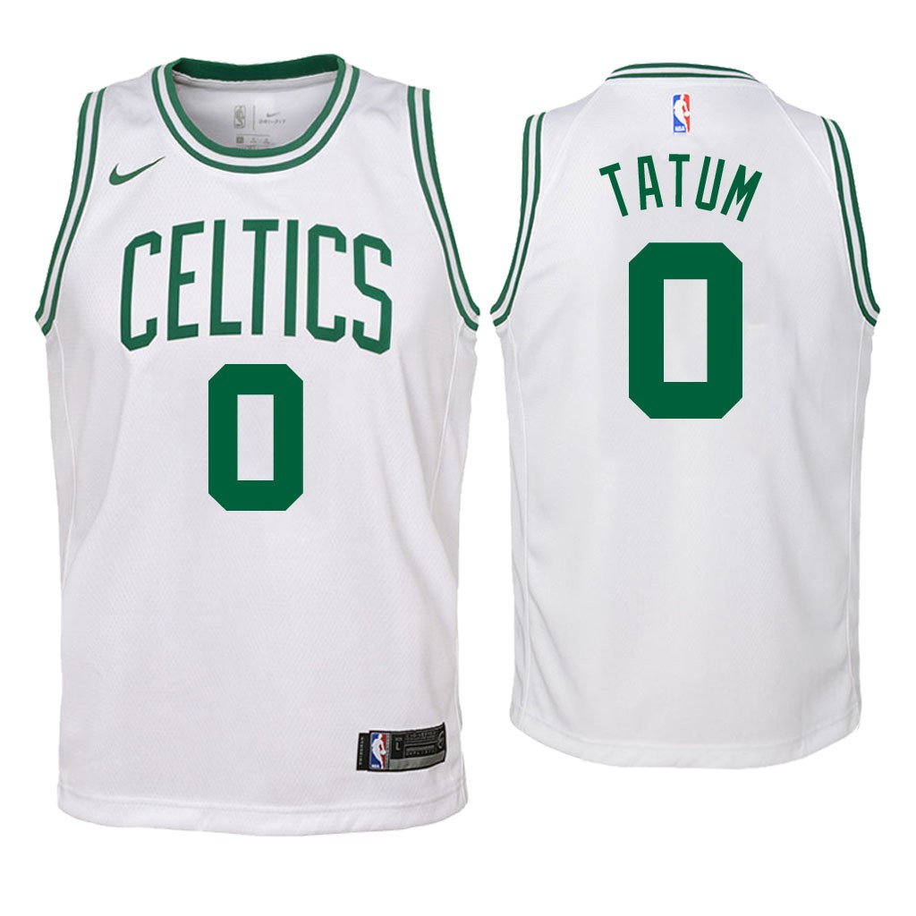 De Alta Calidad Camisetas NBA Niño Boston Celtics 0 Jayson Tatum Blanco Association 2018