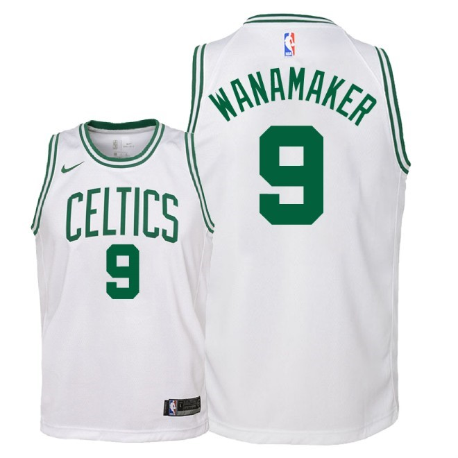 De Alta Calidad Camisetas NBA Niño Boston Celtics 9 Bradley Wanamaker Blanco Association 2018