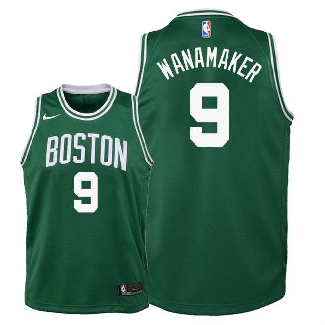 De Alta Calidad Camisetas NBA Niño Boston Celtics 9 Bradley Wanamaker Verde Icon 2018