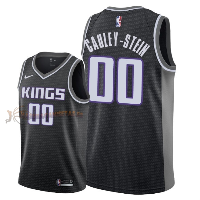 De Alta Calidad Camisetas NBA Sacramento Kings 0 Willie Cauley Stein Negro Statement 2018