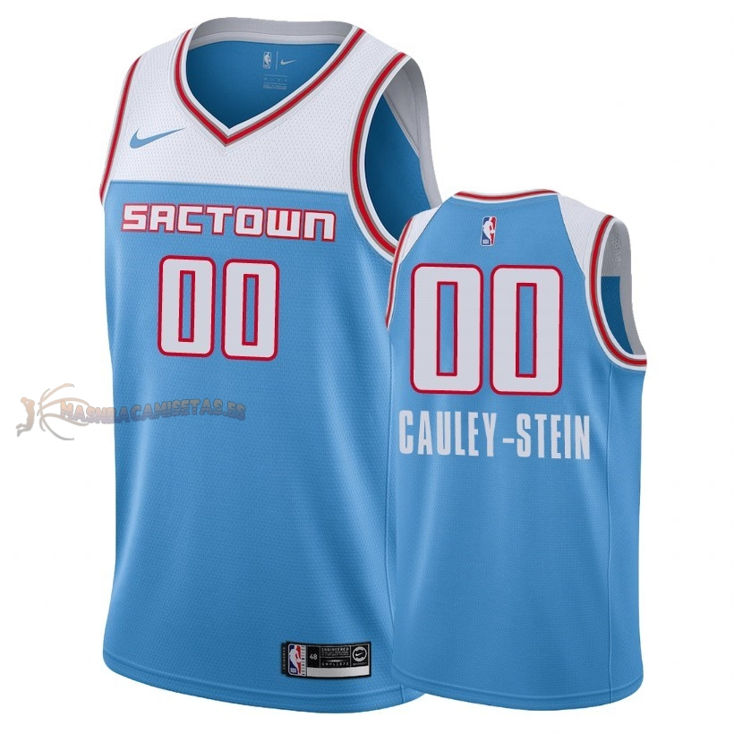 De Alta Calidad Camisetas NBA Sacramento Kings 0 Willie Cauley Stein Nike Azul Ciudad 2018-19