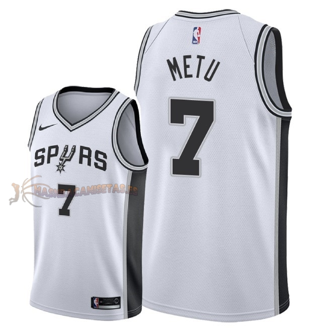 De Alta Calidad Camisetas NBA San Antonio Spurs 7 Chimezie Metu Blanco Association 2018