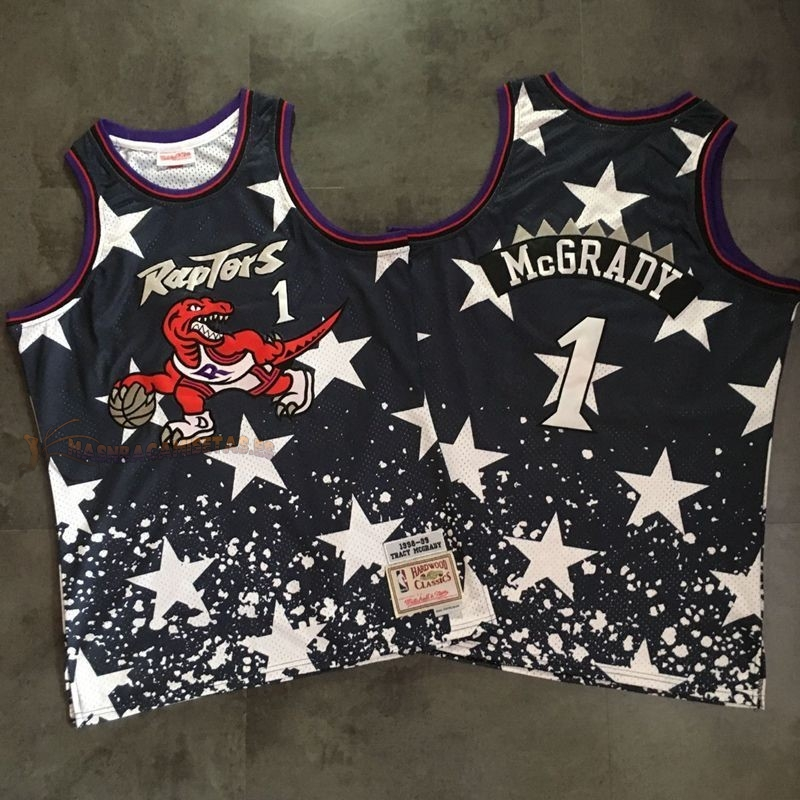 De Alta Calidad Camisetas NBA Toronto Raptors 1 Tracy McGrady Retro Negro AU