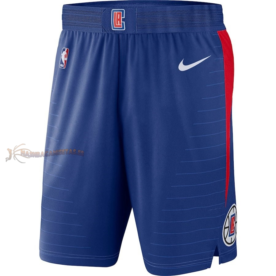 De Alta Calidad Pantalones Basket Los Angeles Clippers Nike Azul Icon 2018