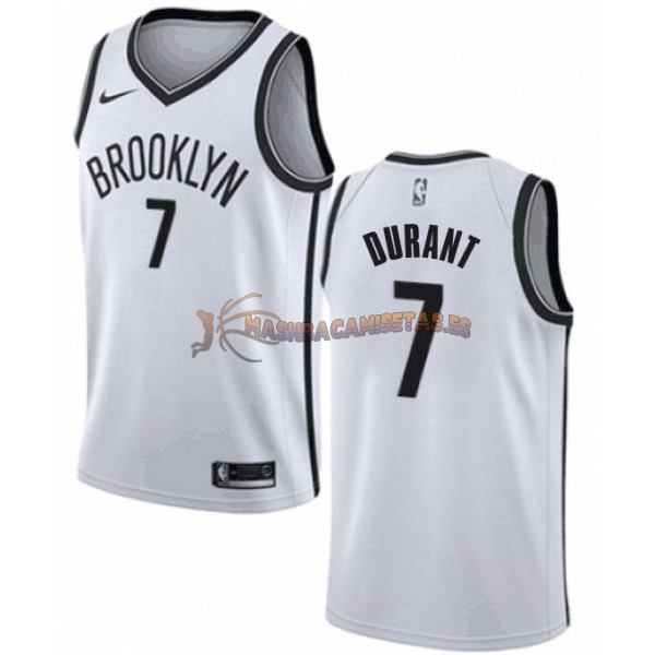 De Alta Calidad Camisetas NBA Niño Brooklyn Nets 7 Kevin Durant Blanco Association 2019/20