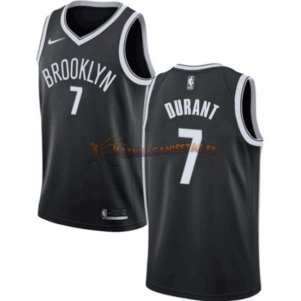 De Alta Calidad Camisetas NBA Niño Brooklyn Nets 7 Kevin Durant Negro Icon 2019/20