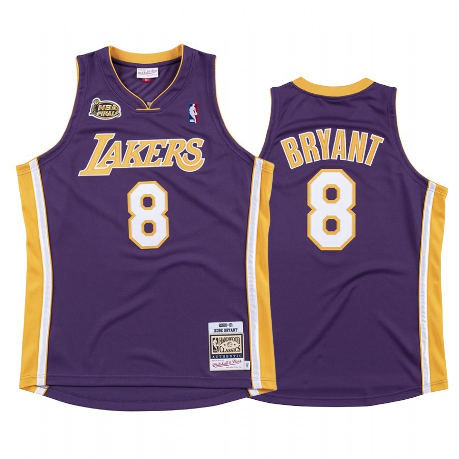De Alta Calidad Camisetas NBA Nike Los Angeles Lakers 8 Kobe Bryant Púrpura 2000/01