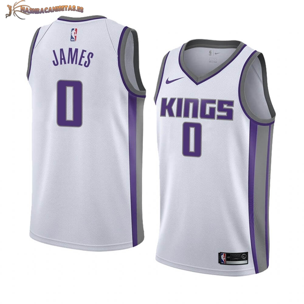 De Alta Calidad Camisetas NBA Nike Sacramento Kings 0 Justin James Blanco Association 2019/20