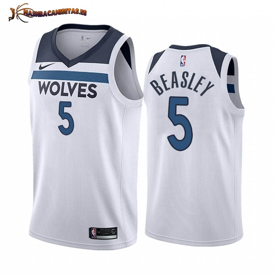 De Alta Calidad Camisetas NBA Nike Minnesota Timberwolves NO.5 Malik Beasley Blanco Association 2019/20
