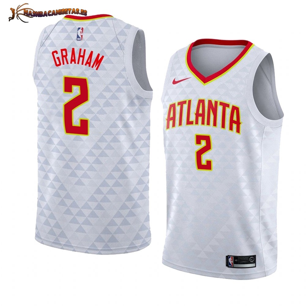 De Alta Calidad Camisetas NBA Nike Atlanta Hawks 2 Treveon Graham Blanco Association 2019/20