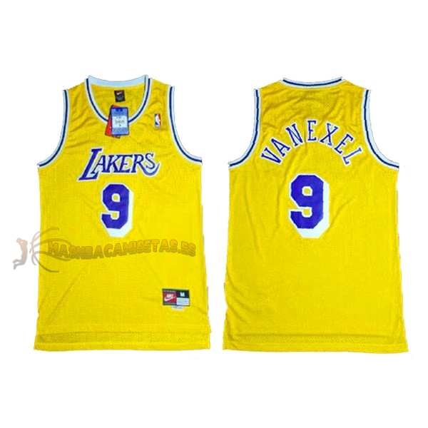 De Alta Calidad Camisetas NBA Los Angeles Lakers 9 Nick Van Exel Amarillo
