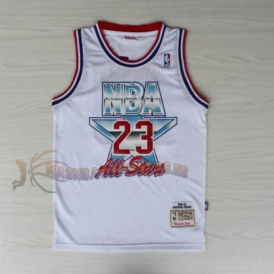 De Alta Calidad Camisetas NBA 1992 All Star 23 Michael Jordan Blanco
