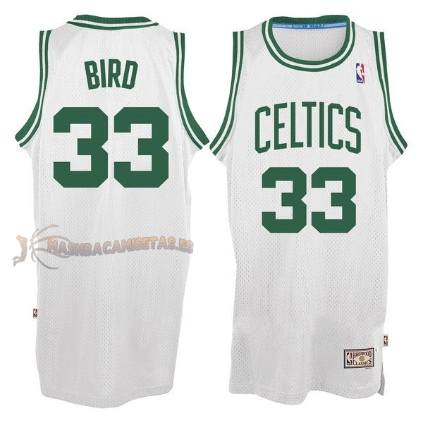 De Alta Calidad Camisetas NBA Boston Celtics 33 Larry Joe Bird Blanco