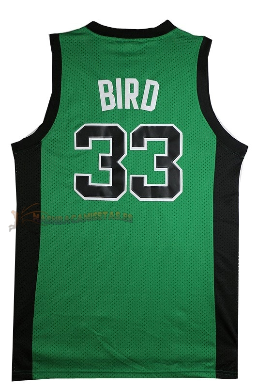 De Alta Calidad Camisetas NBA Boston Celtics 33 Larry Joe Bird Verde Negro